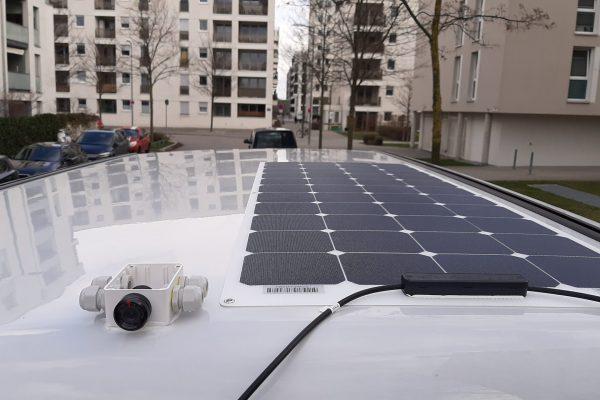 Solaranlage Solarmodule Aufstelldach Westfalia Columbus