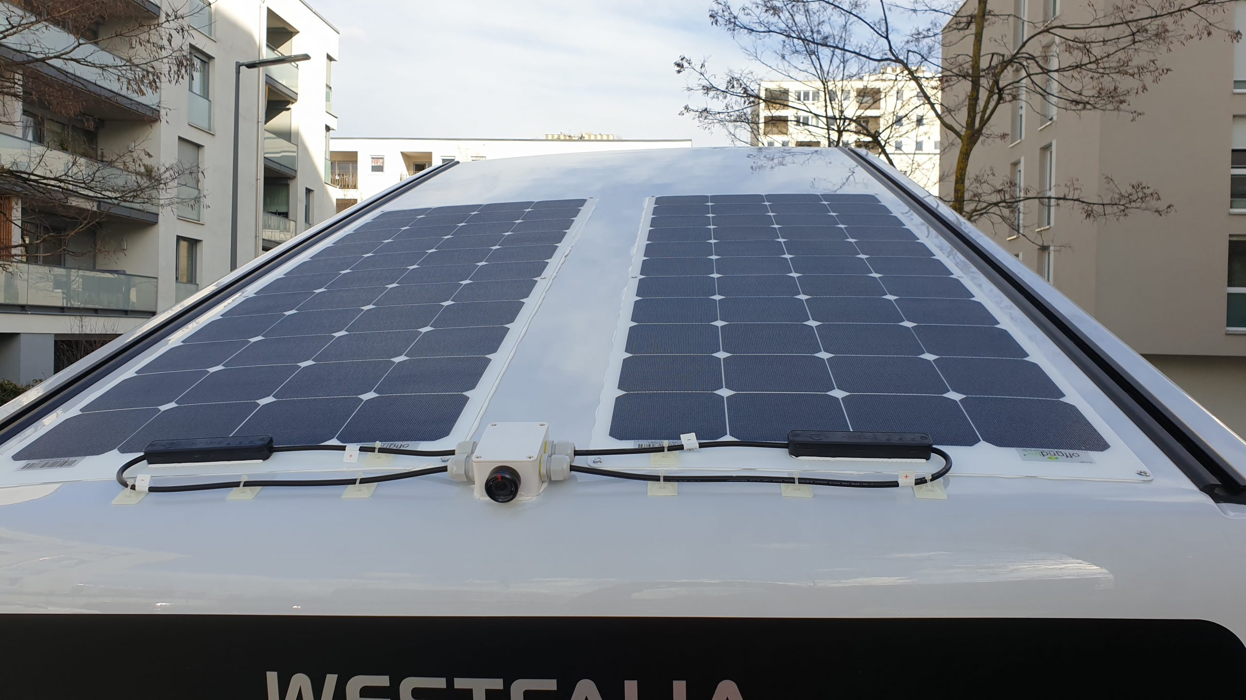 Solarpanels Solarmodule Aufstelldach Westfalia Columbus