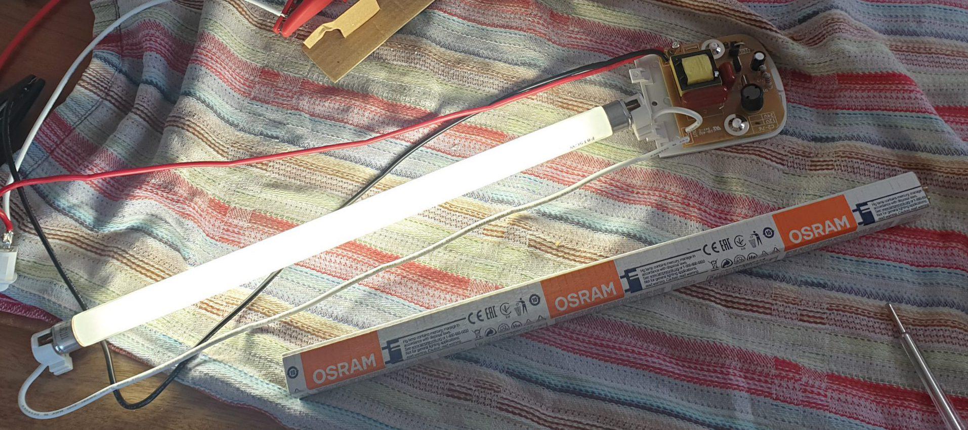 C2-76 Mono Leuchtstoffröhre 12 V (L x B x H) 410 x 65 x 35 mm Schalter