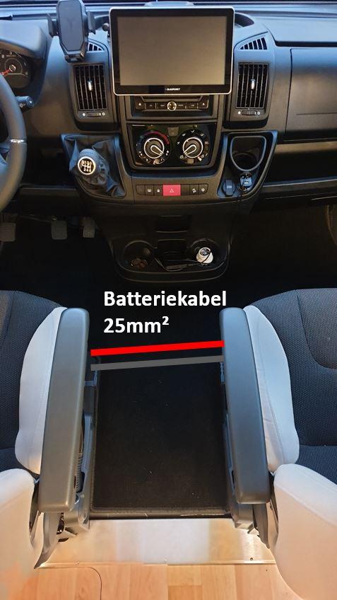 Westfalia Columbus 540d Fahrerbereich Batteriekabel